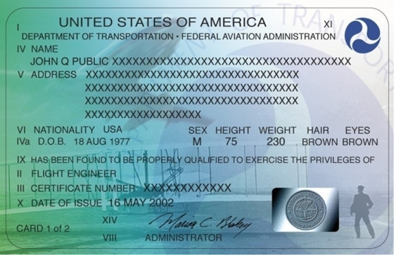 US private pilot certificate