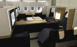Swiss Air first class cabin