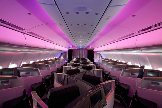 Virgin Atlantic first class cabin