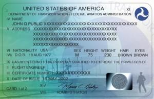 US private pilot certificate